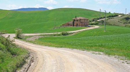 Italy. Val DOrcia valley. Tuscany landscape photo