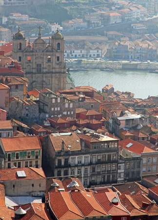 porto: Portugal. Porto. Aerial view over the city Portugal. Porto. Aerial view over the city