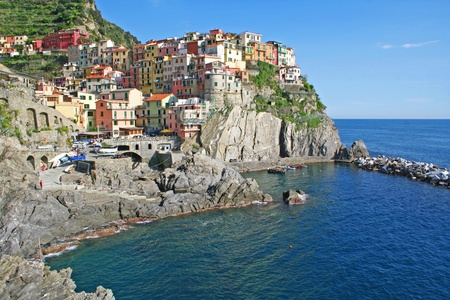 Italy. Cinque Terre region. Manarola village  photo