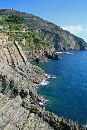 Italy. Cinque Terre coastline photo