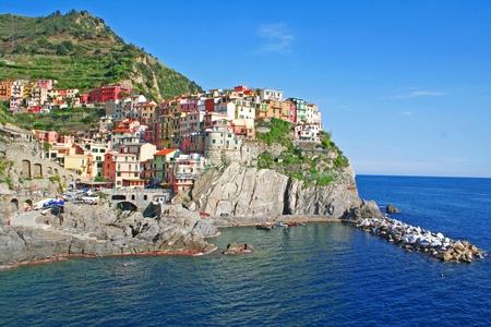 Italy. Cinque Terre region. Manarola village photo