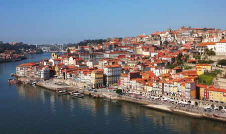 Portugal. Porto city. View of Douro river embankment in the morning Stock Photo - 11987733