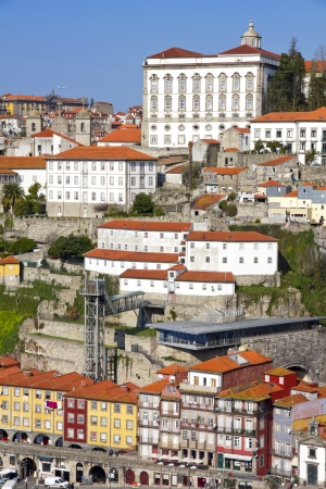 ribeira: Portugal. Porto city. Old historical part of Porto. Ribeira  Stock Photo