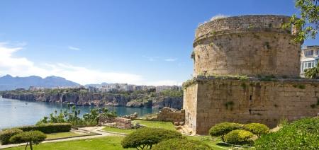 Turkey. Antalya town. Fortress. Beautiful view of harbor