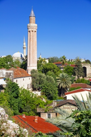 Turkey. The old downtown of Antalya. Yivli minaret in spring