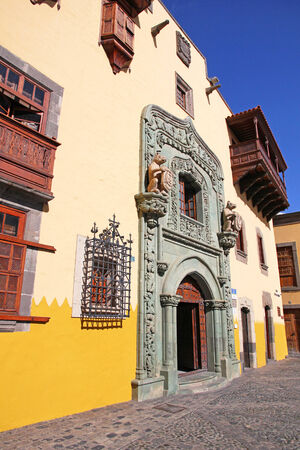 casa colon: Spain. Canary Islands. Gran Canaria island. Las Palmas de Gran Canaria. Columbus House (Casa de Colon)   Editorial