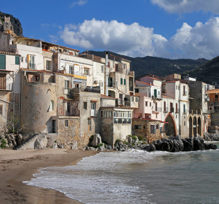 Italy. Sicily island . Province of Palermo. View of Cefalu. photo