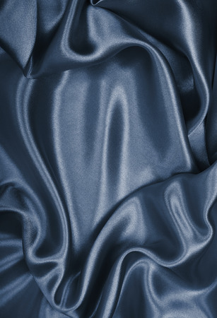 Smooth elegant grey silk can use as background Stock Photo