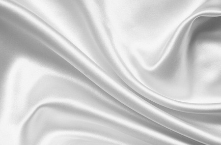 Smooth elegant white silk or satin can use as wedding background