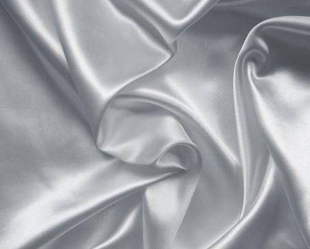 Liscio elegante seta o raso tessuto grigio può utilizzare come sfondo Archivio Fotografico - 42858556