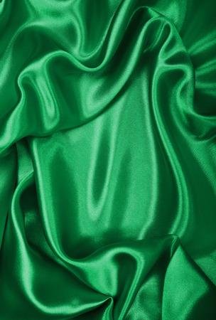 sensuous: Smooth elegant green silk or satin texture Stock Photo