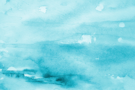 aqua background: Abstract watercolor background with blue layers on paper texture