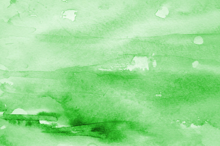 multi layered effect: Abstract watercolor background with green layers on paper texture