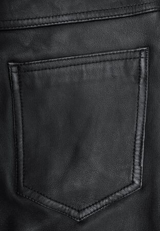 backcloth: Pocket on the black leather texture can use as background