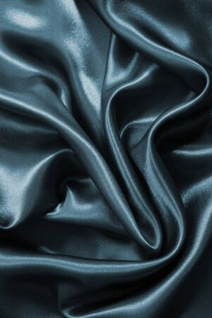 sensuous: Smooth elegant grey silk can use as background Stock Photo