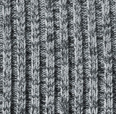 counterpane: Grey knitted wool texture can use as background Stock Photo
