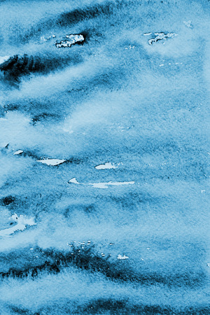 Abstract blue watercolor background with colorful layers on paper texture Stock Photo