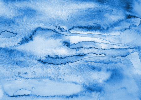 Abstract watercolor background with colorful layers on paper texture
