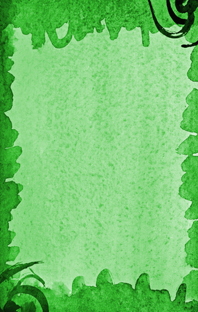 Abstract green watercolor on paper texture can use as background Stock Photo