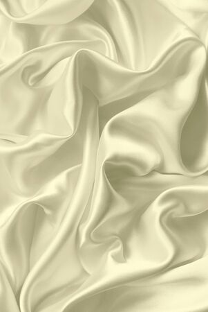 silvery: Smooth elegant white silk can use as wedding background Stock Photo