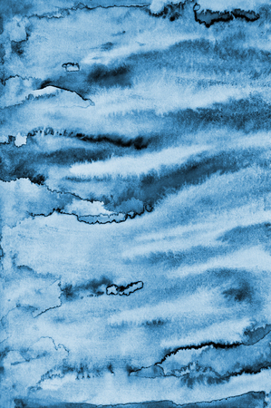 layer styles: Abstract blue watercolor on paper texture can use as background design
