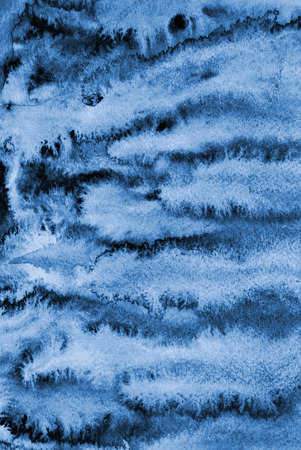 Abstract blue watercolor on paper texture can use as background design