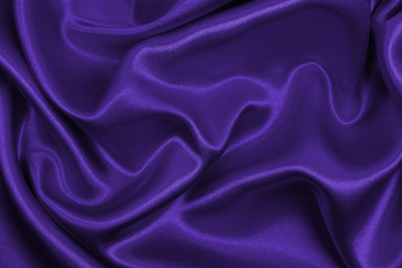 Smooth elegant lilac silk or satin luxury cloth texture can use as abstract background. Luxurious background design Stock Photo