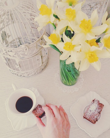 Coffee Morning with cake