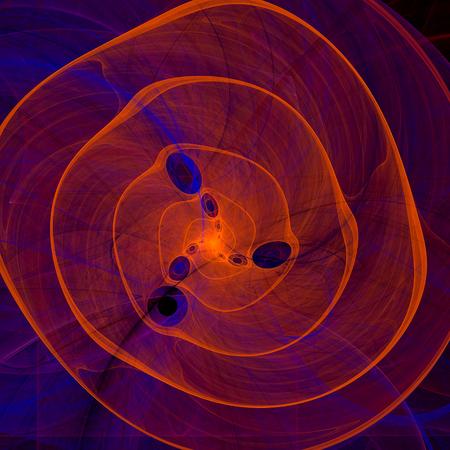 unfold: Orange purple abstract marine spiral fractal background