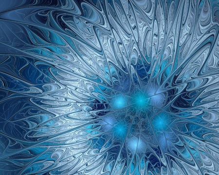 ice crystal: Ice crystal patterns frozen background. Fractal artwork for creative design. Stock Photo