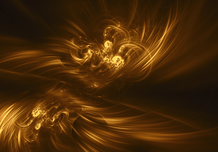 gold haze feather fractal background. Cover design template layout for corporate business card, book, booklet, brochure, flyer, poster, banner. Fractal artwork for creative design.