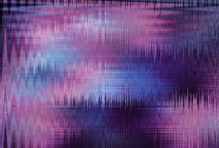 violet blurred abstract background texture with horizontal stripes. glitches, distortion on the screen broadcast digital