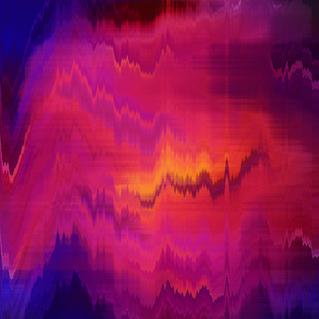 Orange purple blurred abstract background texture with stripes. glitches, distortion on the screen broadcast digital Stock Photo