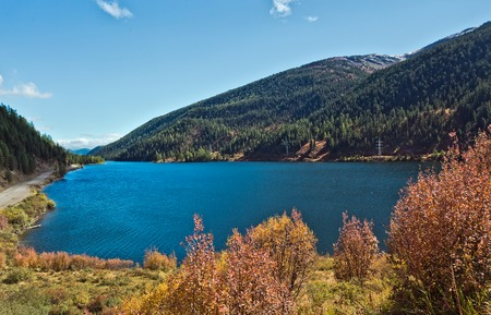 lake cheybekkohl in the vicinity of the mountain pass Ulaganskiy. Altai, Russia