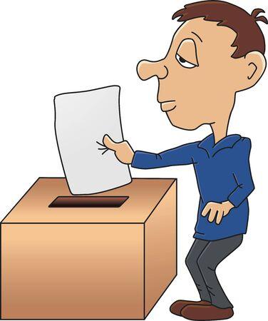voting box: Presentazione di un voto Vettoriali