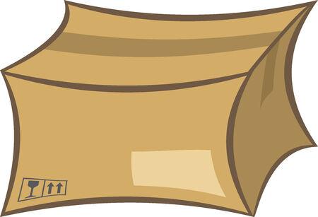 기밀: Cardboard shipping box illustration