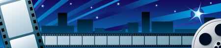 opening party: Festival de Cine de gran apertura en la noche Vectores