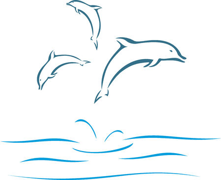 art: Dolphins Illustration