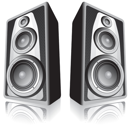 Two speakers isolated on white background Stock Vector - 2750612