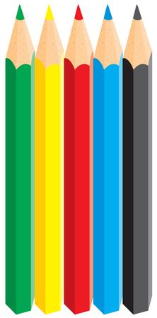 Multicolored pencils Vector