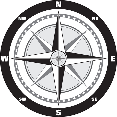 Wind rose compass Vector