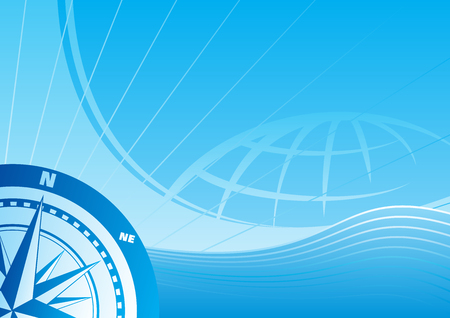 Blue travel background Vector