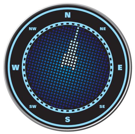 lost world: Compass digital display