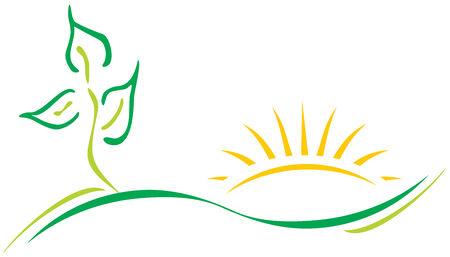 Ecologie logo Stock Illustratie