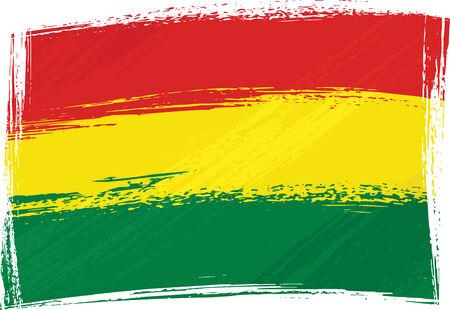bandera de bolivia: Grunge bandera Bolivia