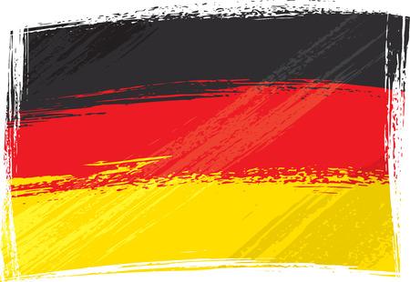 Grunge bandera de Alemania