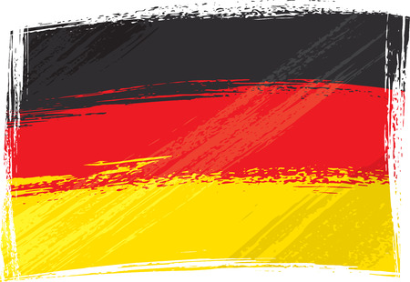 Grunge Germany flag Stock Vector - 3103504