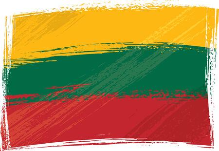 lithuania flag: Grunge Lithuania flag