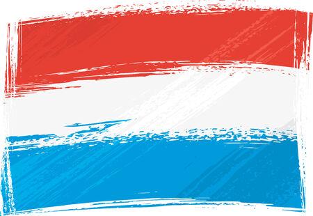 Vlag van Grunge Luxemburg Vector Illustratie