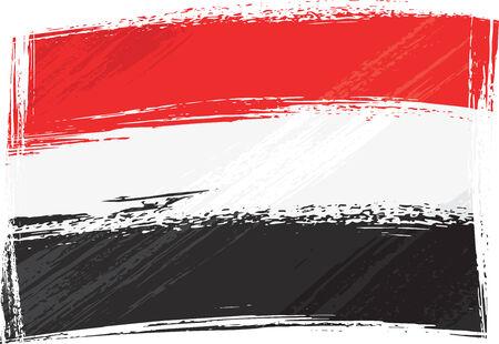 Grunge Yemen flag Vector